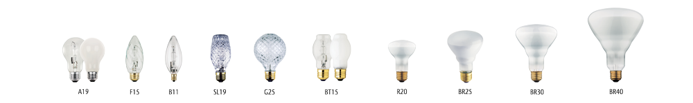 Eco-Halogen light bulbs