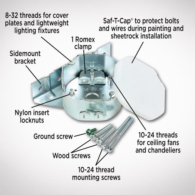 Westinghouse Sidemount Plus Fan Box, 2-1/8-Inch Deep