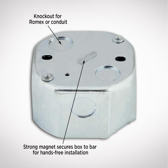 Saf T Brace 3 Teeth Twist And Lock With 2 1 8 Inch Deep Box