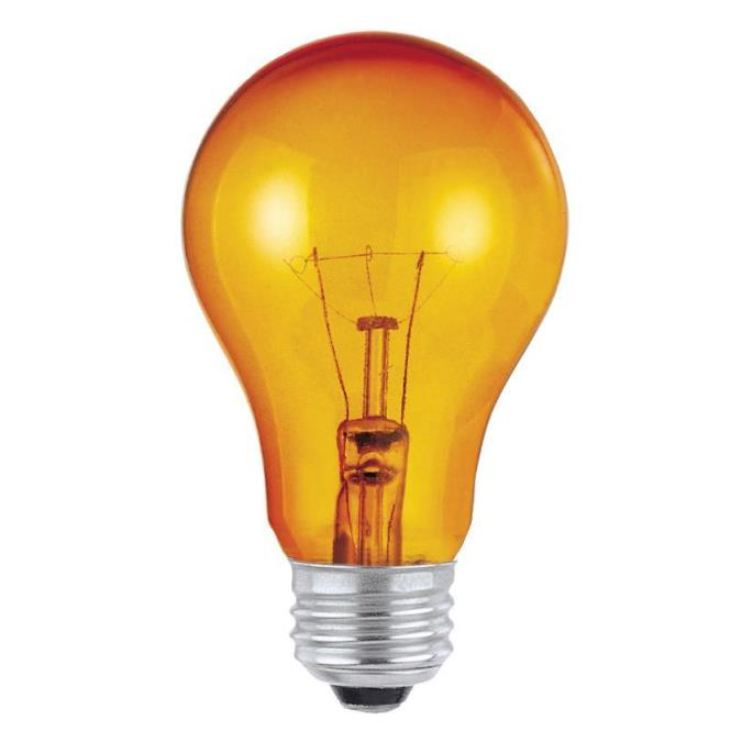 Westinghouse A19 25 Watt Medium Base Amber Incandescent Lamp