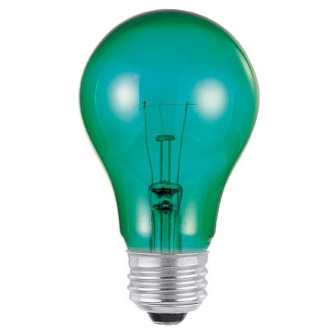 Westinghouse A19 25 Watt Medium Base Green Incandescent Lamp