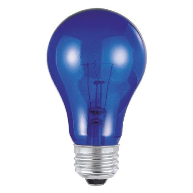 Westinghouse A19 25 Watt Medium Base Blue Incandescent Lamp