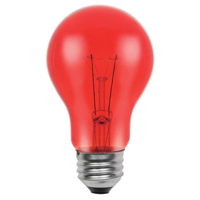 Westinghouse A19 25 Watt Medium Base Red Incandescent Lamp
