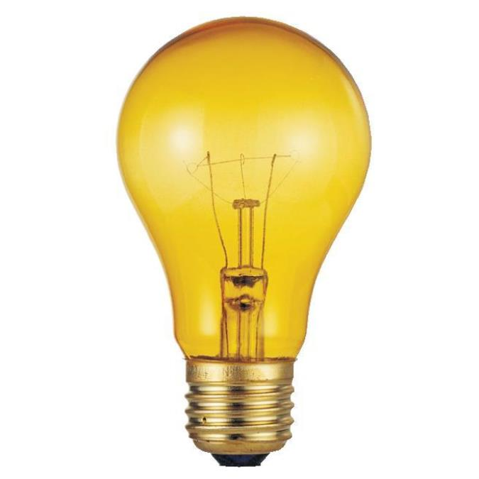 Westinghouse A19 25 Watt Medium Base Yellow Incandescent Lamp