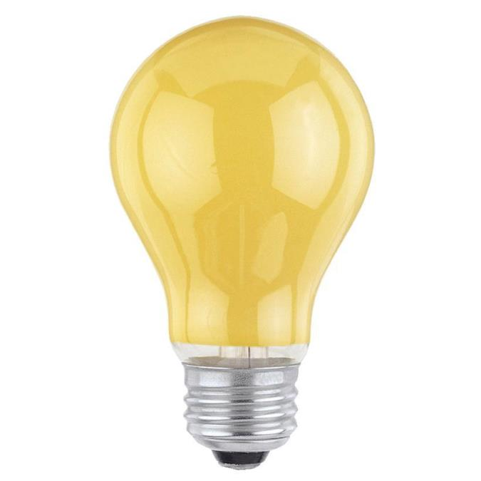 Westinghouse A19 60 Watt Medium Base Yellow Incandescent Lamp
