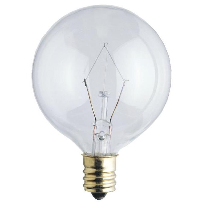 Westinghouse G16 1 2 40 Watt Candelabra Base Incandescent Lamp