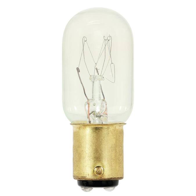 Westinghouse T7 15 Watt D C Bayonet Base Incandescent Lamp