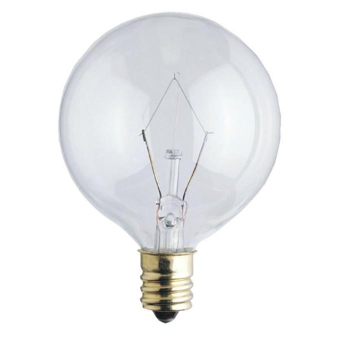 Westinghouse G16 1 2 25 Watt Candelabra Base Incandescent Lamp