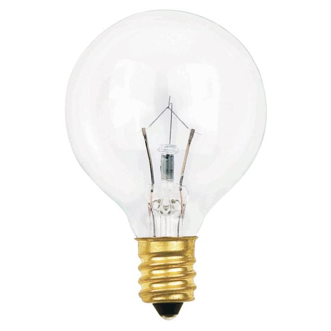 Westinghouse G12 1 2 10 Watt Candelabra Base Incandescent Lamp