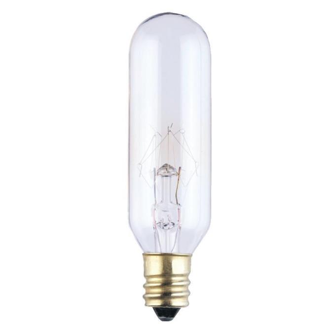 ABC 0388300 15W T6 INCANDESCENT CLEAR E12 (CANDELABRA) BASE, 145V cs=10 formerly: SUP 60252