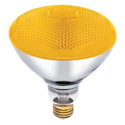 westinghouse br38 100 watt medium base yellow incandescent. Black Bedroom Furniture Sets. Home Design Ideas