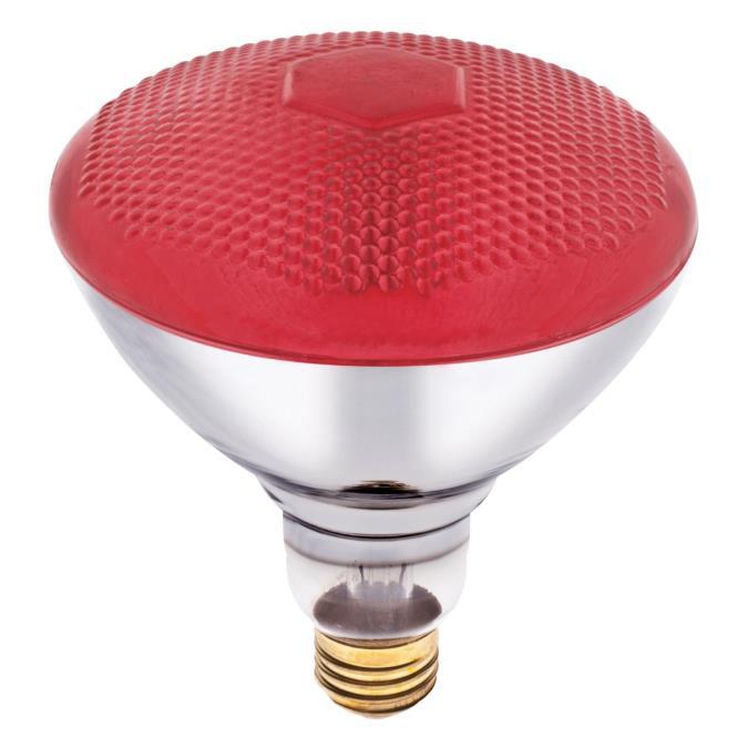 Fluorescent Light Kwh Usage: Westinghouse BR38 100 Watt Medium Base Red Incandescent Lamp