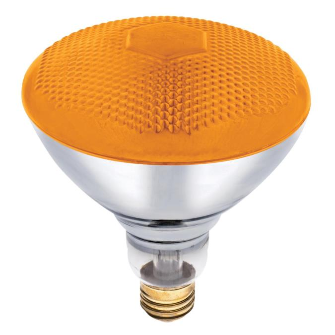 Westinghouse Br38 100 Watt Medium Base Amber Incandescent Lamp