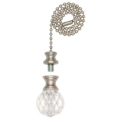 Prismatic Glass Sphere Finial/Pull Chain