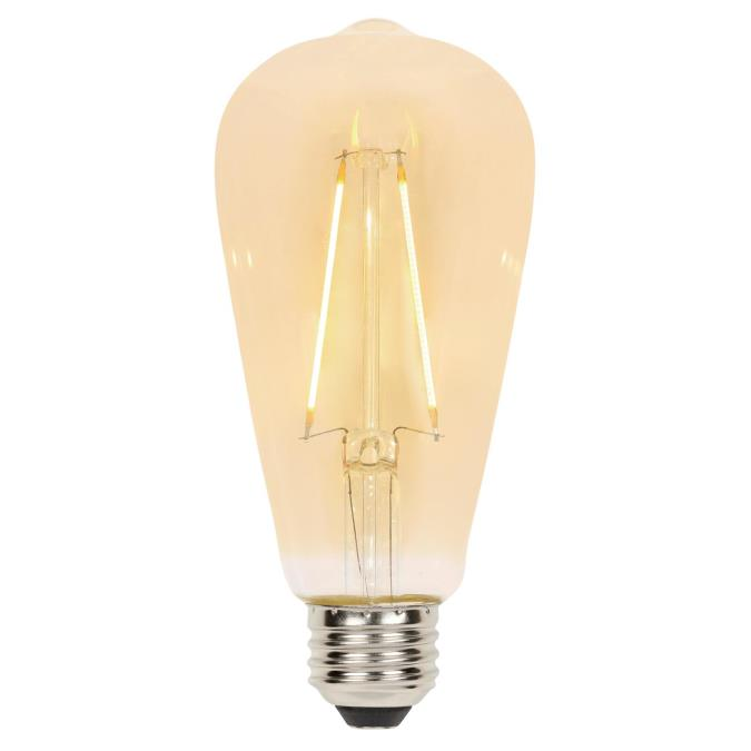 Westinghouse 40w Equivalent Amber St20 Dimmable Filament: Westinghouse ST20 2-1/2-Watt (25 Watt Equivalent) Medium