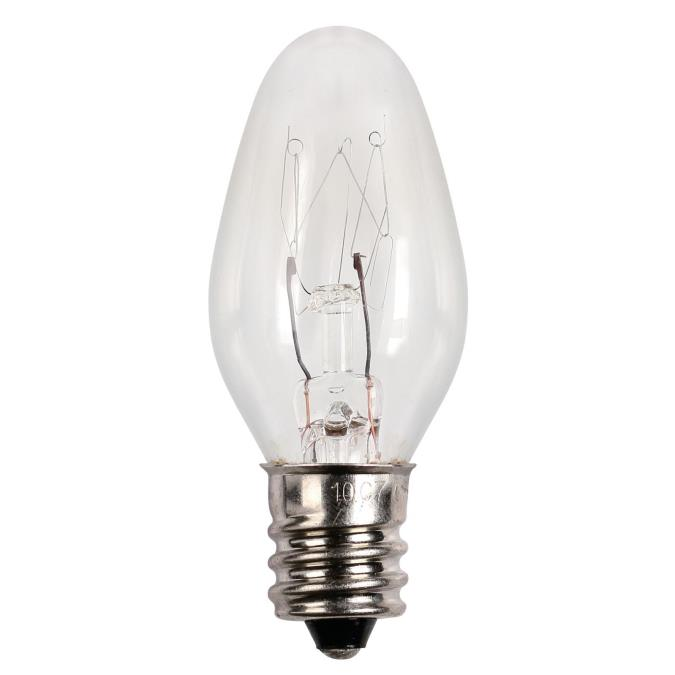Westinghouse C7 15 Watt Candelabra Base Incandescent Lamp