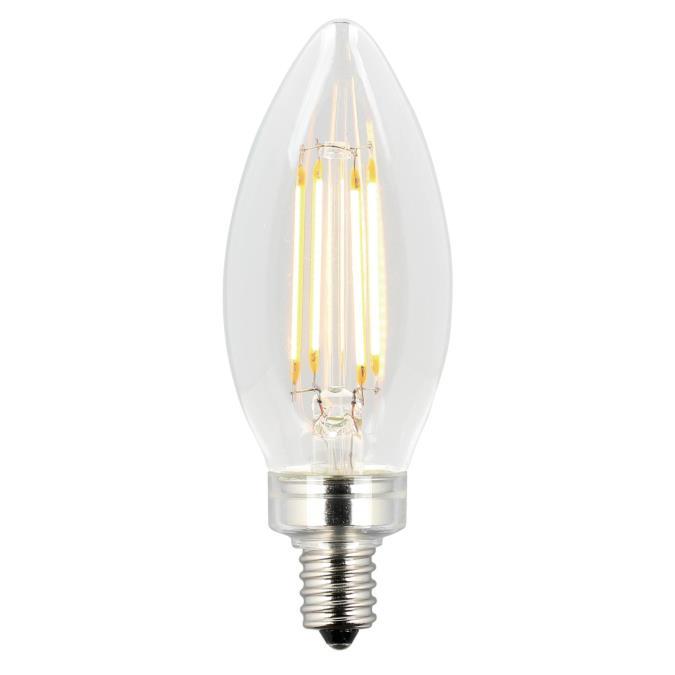 Westinghouse 40w Equivalent Soft White Ca11 Dimmable: Westinghouse B11 4.5-Watt (60 Watt Equivalent) Candelabra