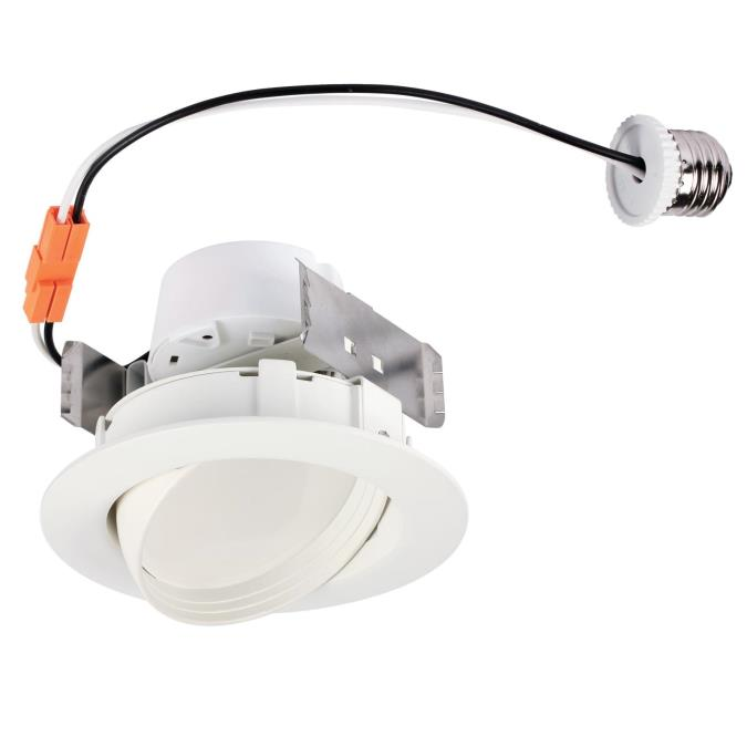 Westinghouse 4 Inch Sloped Recessed Led Downlight 10 Watt 65 Watt Equivalent Medium Base Warm Whit