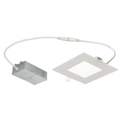 12 Watt (80 Watt Equivalent) 6-Inch Dimmable Slim Square Recessed LED Downlight, ENERGY STAR