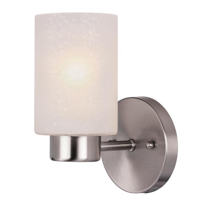 Westinghouse Sylvestre One-Light Indoor Wall Fixture, brushed nickel ...