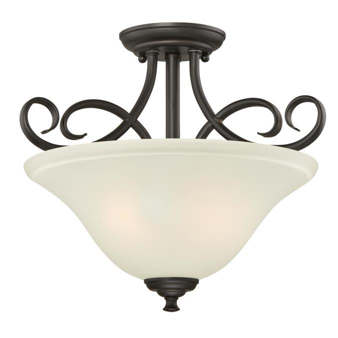 Dunmore two light indoor semi flush ceiling fixture