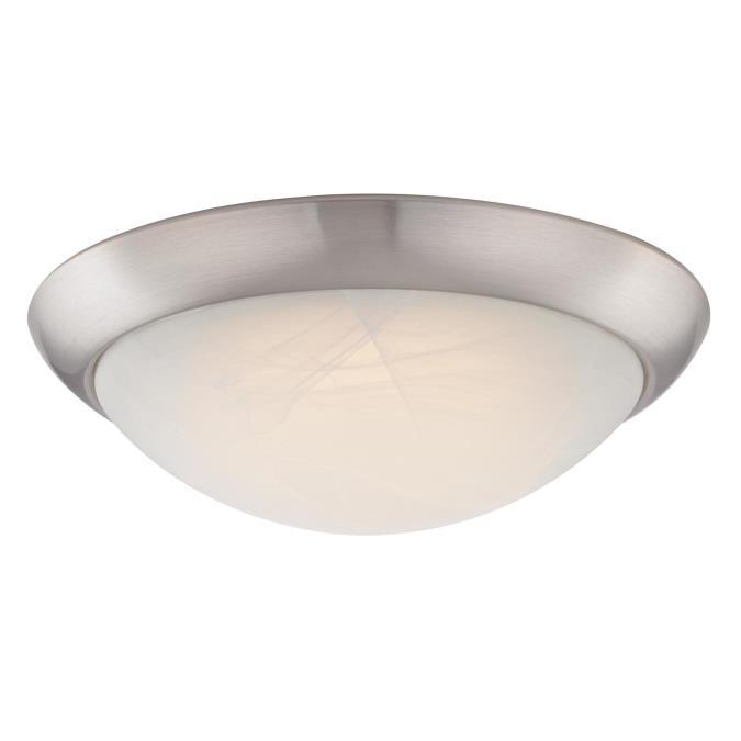 westinghouse 11 inch led flush mount ceiling fixture brushed nickel finish. Black Bedroom Furniture Sets. Home Design Ideas