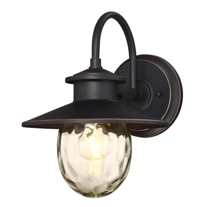 westinghouse delmont one light outdoor wall fixture oil rubbed