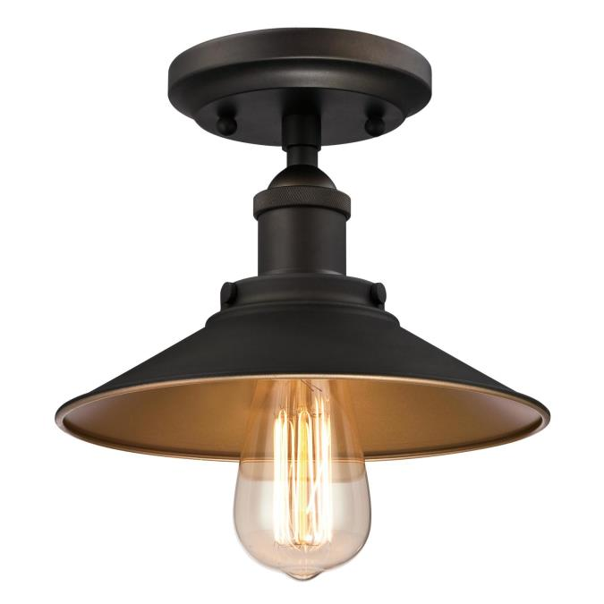 Louis one light indoor semi flush ceiling fixture