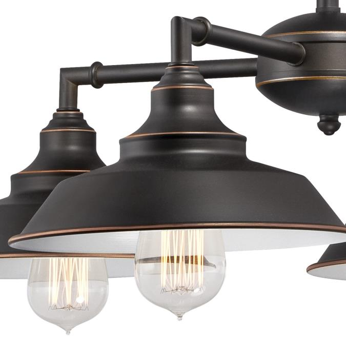 Westinghouse Iron Hill Pendant: Westinghouse Iron Hill Four-Light Indoor Convertible