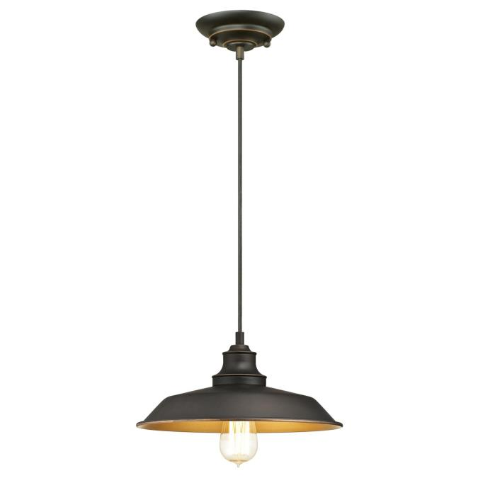 Westinghouse Iron Hill Pendant: Westinghouse Iron Hill One-Light Indoor Pendant, Oil