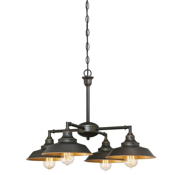 Westinghouse iron hill four light indoor convertible chandeliersemi iron hill four light indoor convertible chandeliersemi flush ceiling fixture mozeypictures Gallery