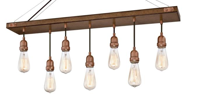 Westinghouse Elway Seven Light Indoor Chandelier Barnwood