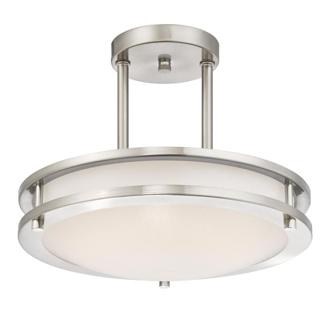 Westinghouse 11-7/8-Inch Dimmable ENERGY STAR LED Indoor Semi-Flush Mount Ceiling Fixture, Brushed N