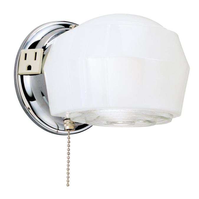 Bathroom Light Fixture Pull Chain westinghouse one-light interior wall fixture