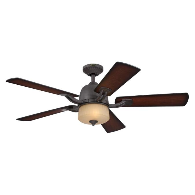 Ripley 52 Inch Reversible Plywood Five Blade Indoor Ceiling Fan