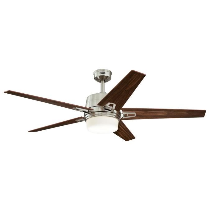 fans zephyr 56 inch indoor ceiling fan with dimmable led light kit. Black Bedroom Furniture Sets. Home Design Ideas