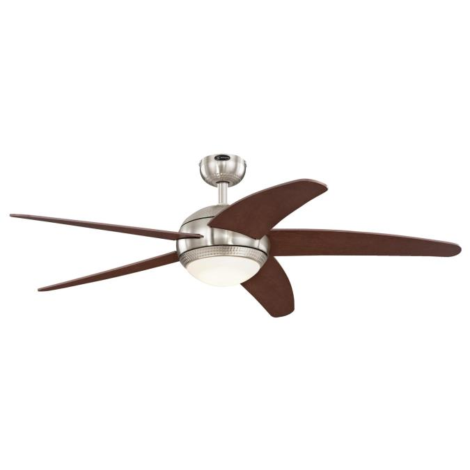 westinghouse bendan led 52 inch five blade indoor ceiling fan brushed. Black Bedroom Furniture Sets. Home Design Ideas