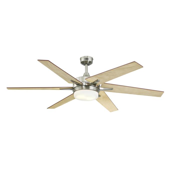 Westinghouse cayuga 60 inch reversible six blade indoor ceiling cayuga 60 inch indoor ceiling fan with dimmable led light kit mozeypictures Images