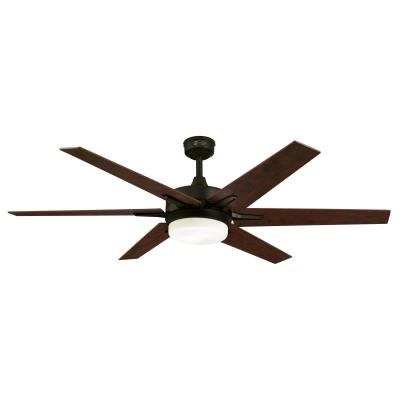 Cayuga 60-Inch Indoor Ceiling Fan with Dimmable LED Light Kit
