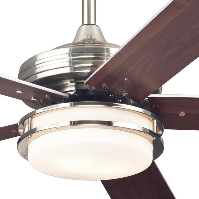 Westinghouse Castle Led 52 Inch Reversible Five Blade Indoor Ceiling Fan Brushed Nickel Finish With