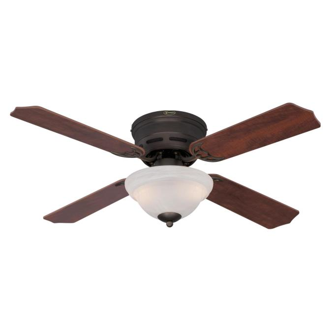 Westinghouse Hadley 42 Inch Reversible Four Blade Indoor Ceiling Fan Oil Rubbed Bronze Finish With