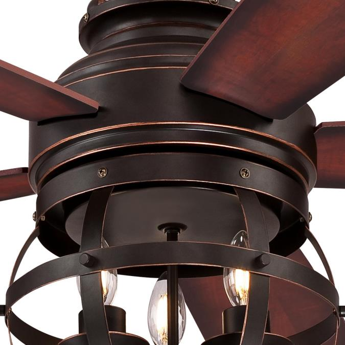 New 52 3 Light Bronze Indoor Ceiling Fan Best Price: Westinghouse Stella Mira 52-Inch Five-Blade Indoor Ceiling