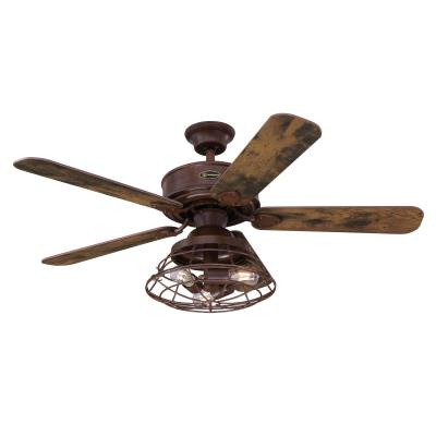 Barnett 48-Inch Indoor Ceiling Fan with Dimmable LED Light Kit