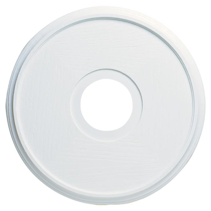 Westinghouse textured white finish ceiling medallion 15 34 inch molded plastic ceiling medallion aloadofball Images