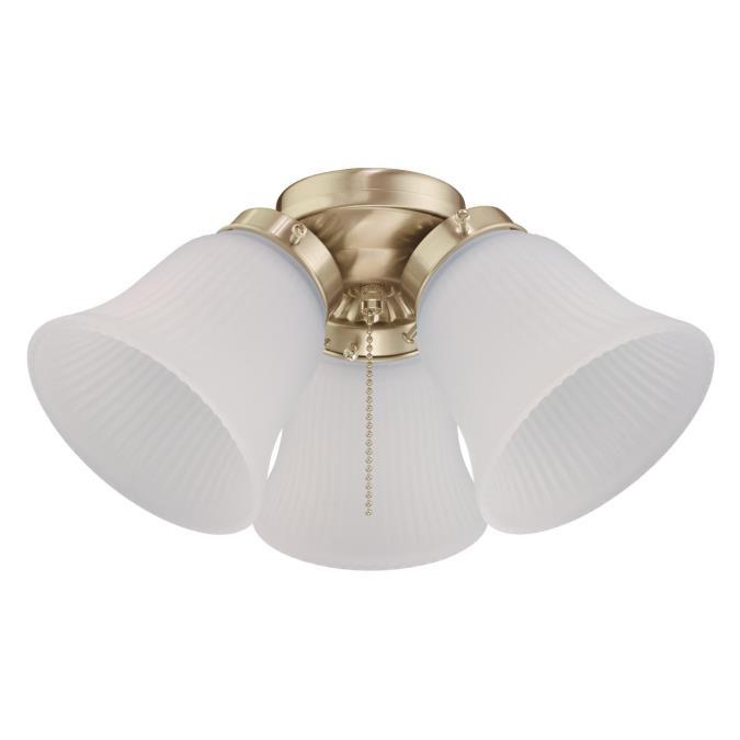 Three Light Led Cer Ceiling Fan Kit