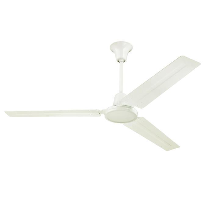 Industrial 56 Inch Three Blade Indoor Ceiling Fan, J Hook Installation  System