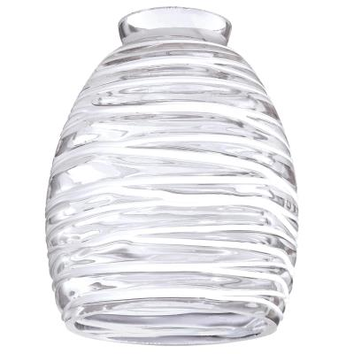 2-1/4-Inch Clear with White Rope Glass Shade