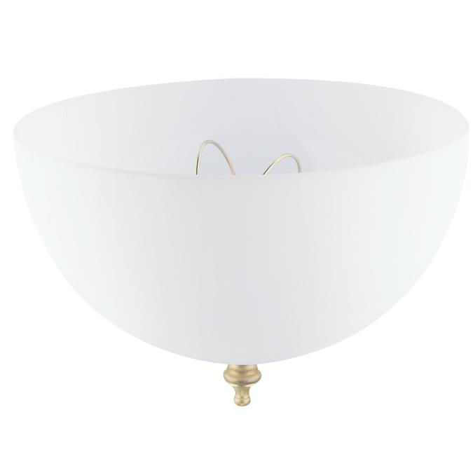 westinghouse acrylic white dome clip on shade. Black Bedroom Furniture Sets. Home Design Ideas