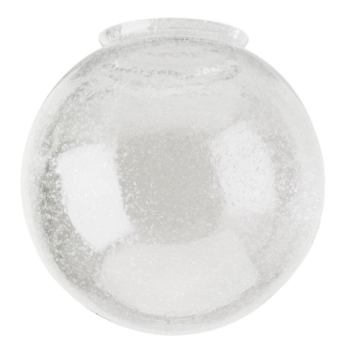 Westinghouse Handblown Clear Seeded Glass Globe