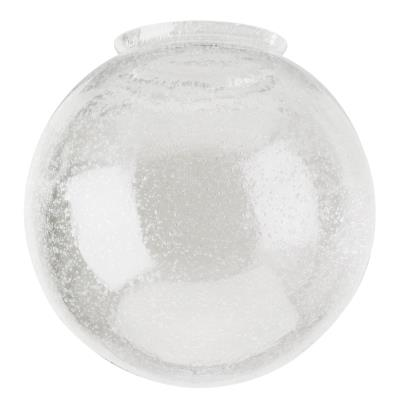 Handblown Clear Seeded Glass Globe
